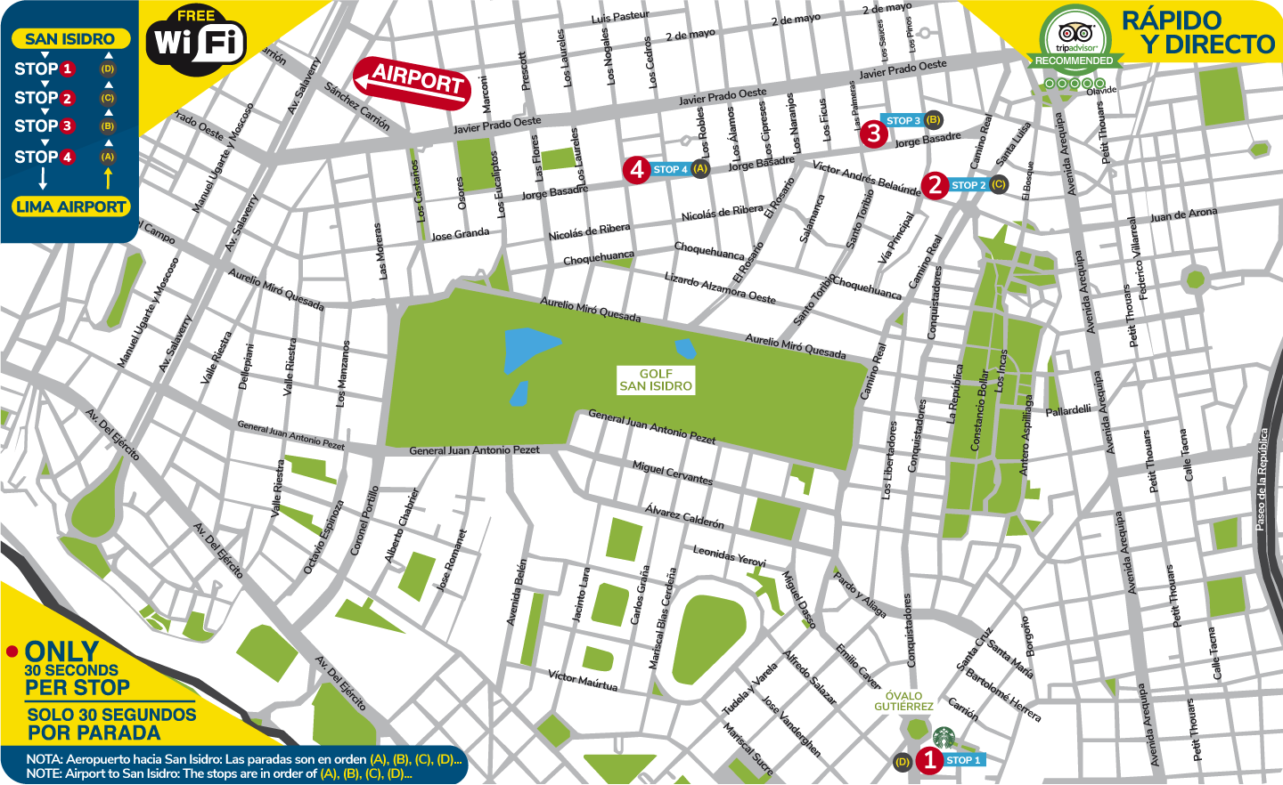 map San Isidro