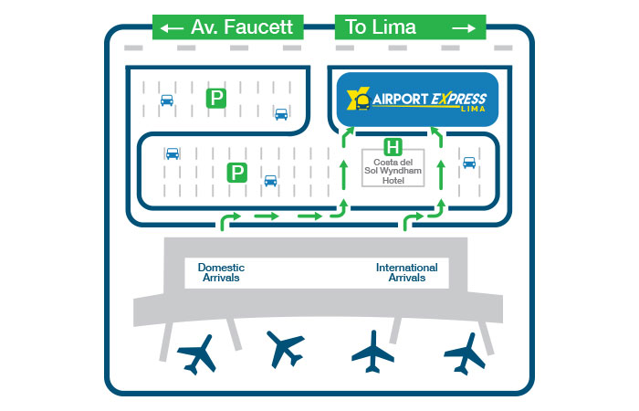 lima international airport map Map Airport Express Lima lima international airport map