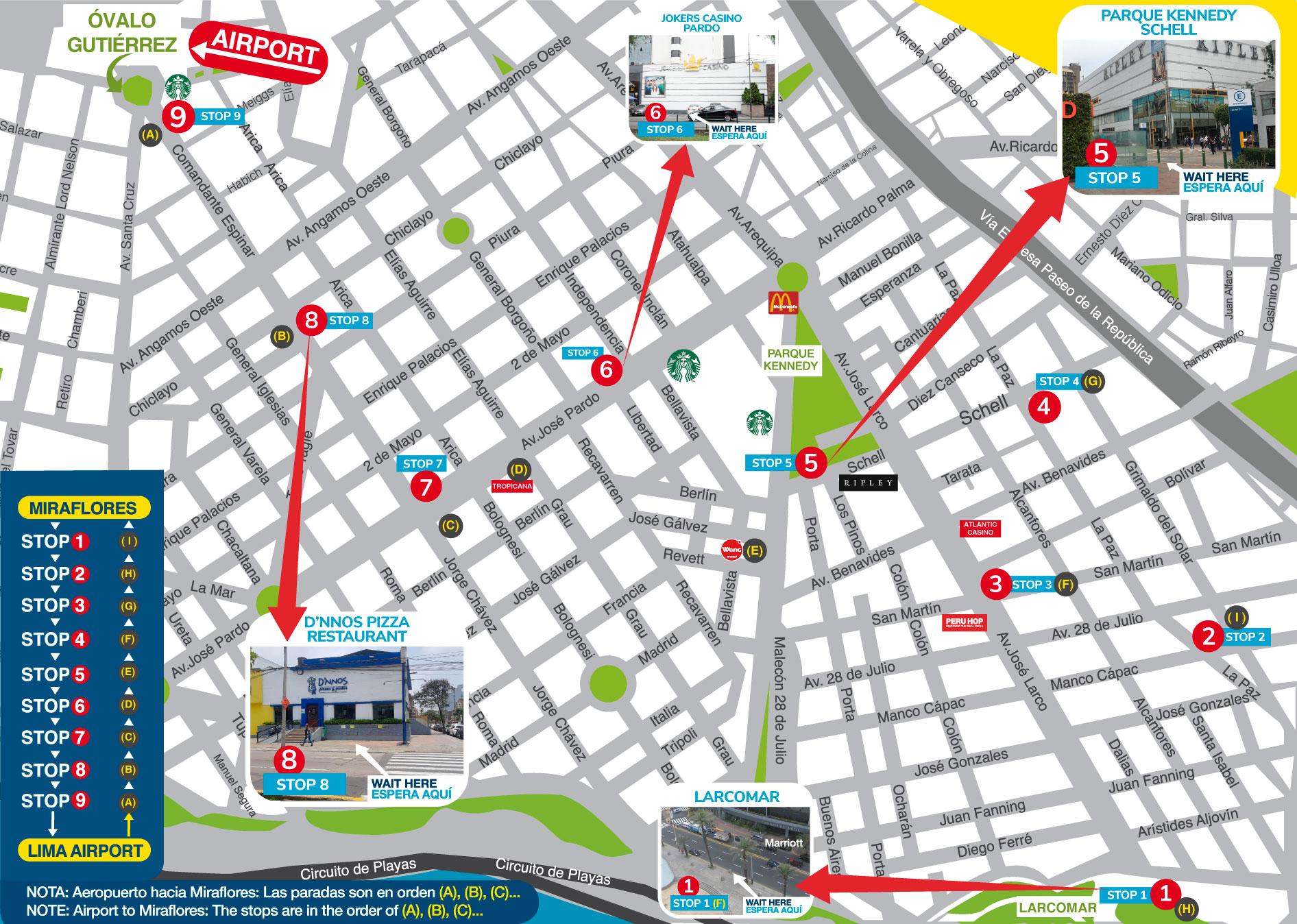 mapa Miraflores
